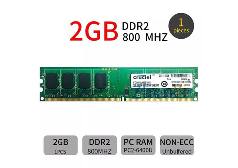 Refurbished 2GB DDR2 {pc2} Desktop RAM