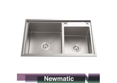 Newmatic Double HU82 Undermount Handmade Kitchen Sink