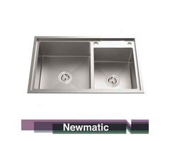 Newmatic Double HU82 Undermount Handmade Kitchen Sink