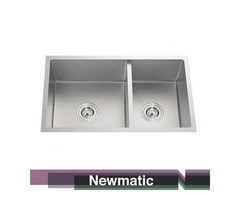Newmatic Double HU78 Undermount Handmade Kitchen Sink
