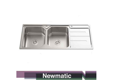 Newmatic Double 118 Ultra Deep Bowl Kitchen Sink