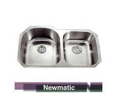 Newmatic Double U86 Undermount Kitchen Sink