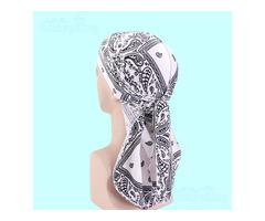 Velvet Durags/Floral -Bandanas/Turbans/Hats/Caps/Muslim headscarves,Bikers,Hip-Hop lovers,