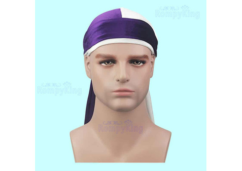 2 Tone Velvet Durags-Bandanas/Turbans/Hats/Caps/hair loss,Muslim headscarves,Bikers,Hip-Hop lovers