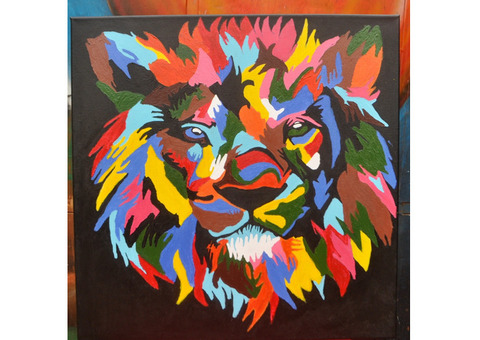 Lion Abstract Painting on sale