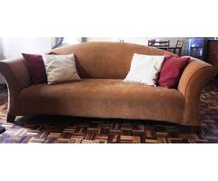 7 seater earth colored sofa