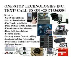 CCTV  ,Fire alarms, POS, Server Installation, security Alarms