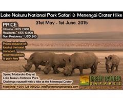 Lake Nakuru National Park Safari and Menengai Crater Hike (31 May - 1 June)