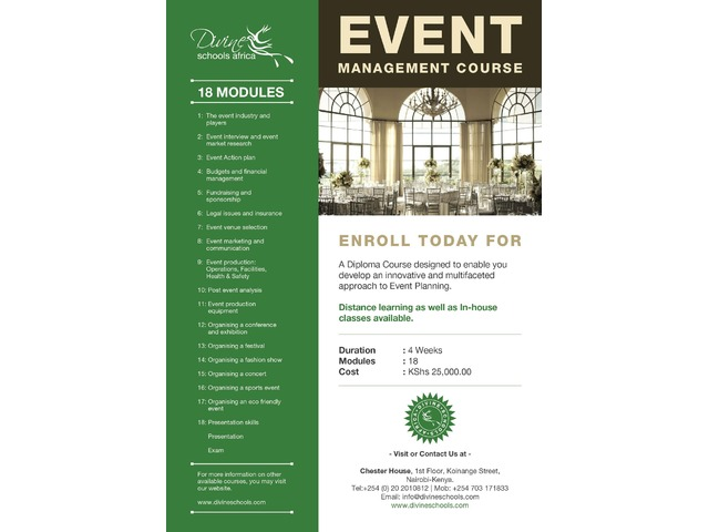 THE BEST AFFORDABLE EVENTS MANAGEMENT COURSE IN TOWN