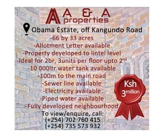 66 by 33 acre land for sale
