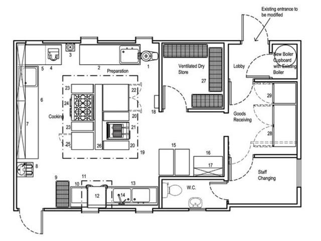 Commercial kitchen floor plans nairobi deals in kenya for Commercial floor plans free