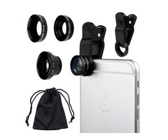 Universal 3 in 1 Lens Clip for Phones and Tablets
