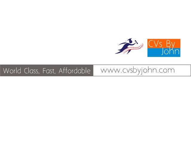 Professional CV Writing for Jobs in Kenya.