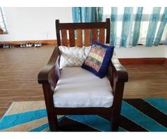 Hard coconut and mavuli wood sofa set