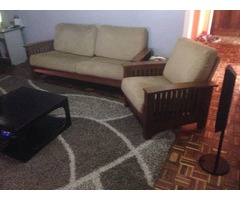 SALE: 7 seater fabric sofa