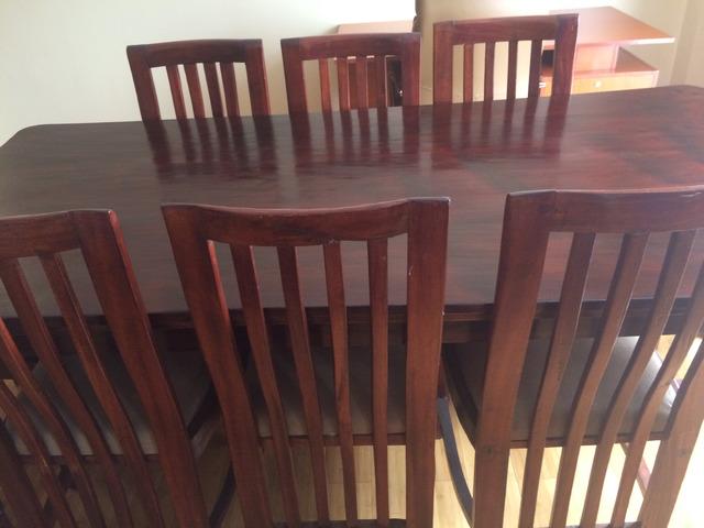 Natural finish seater mahogany wood dining table nairobi