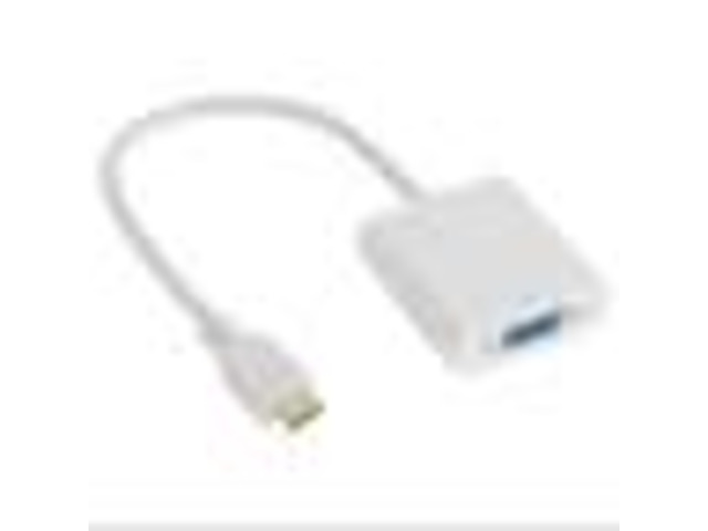 HDMI Male to VGA Female Video Converter Cable White (EXPO