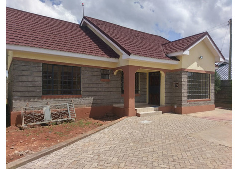 3 Bedroom new Bungalow(Master Ensuite) for sell around the Ruiru Bypass.H7.