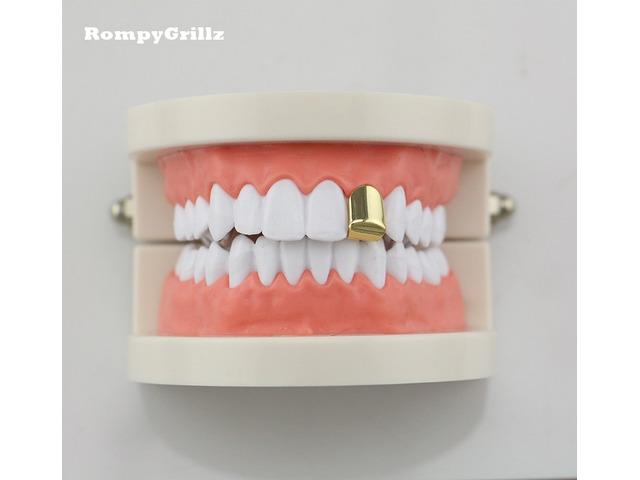 Single Grillz/tooth caps hip hop rocky