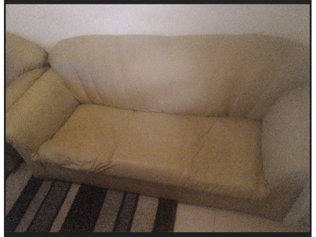 Used 5 seater leather sofa