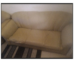 Used 5 seater leather sofa