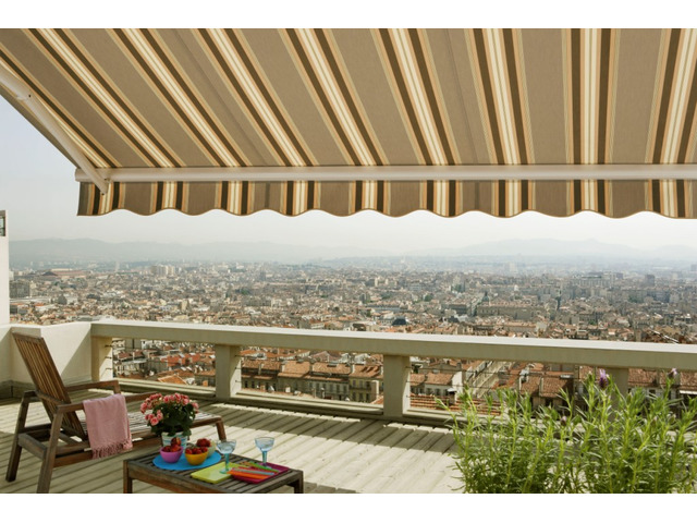 Beautiful Patio Awning, Shade Sail & Retractable House Awning by Mombasa Canvas