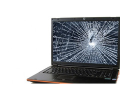 Broken Laptop Screen Replacement With new