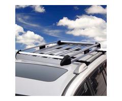 "50"" x 38"" Aluminum Car Roof Cargo Carrier Luggage Basket Rack Top w/Crossbars"