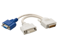 Dual Monitor DVI Splitter Y-Cable DVI-I to DVI-D and VG