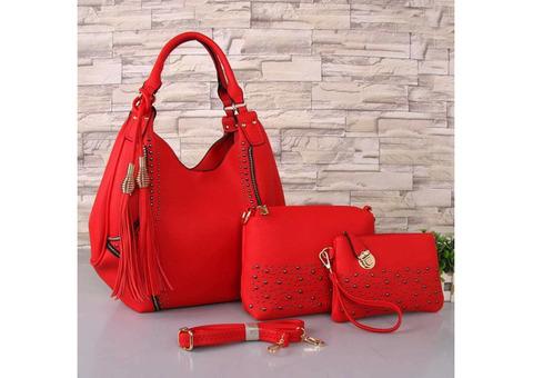 Fashionable 3-in-1 Ladies Handbags