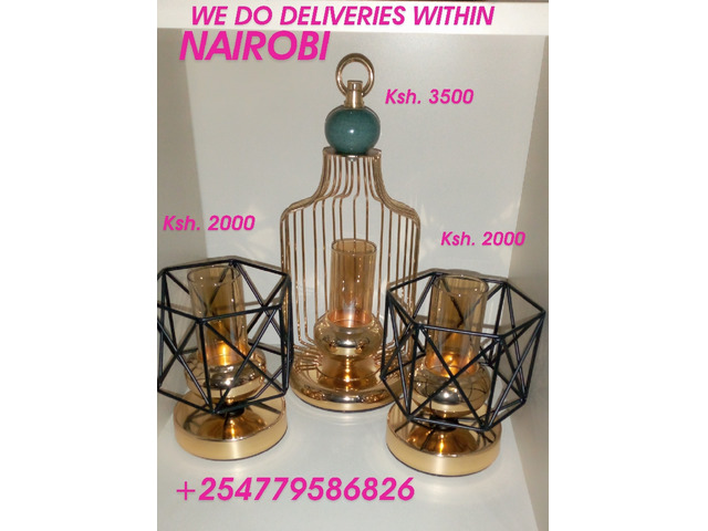 Unique candle holders and vases Nairobi +254779586826