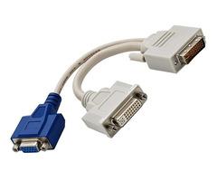 Dual Monitor DVI Splitter Y-Cable DVI-I to DVI-D and VGA
