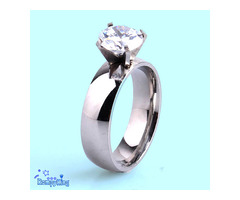 Fashion 316L Stainless Steel Wedding/Engagement/Anniversary/Proposal Rings