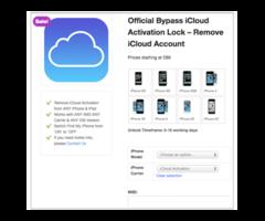 Iphone and ipad icloud unlocking