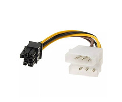2x Molex TO 6 Pin PCI Express Power Adapter Cable for Graphics Card