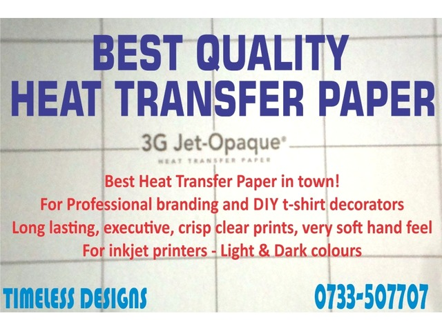 heat transfer paper for sale cape town