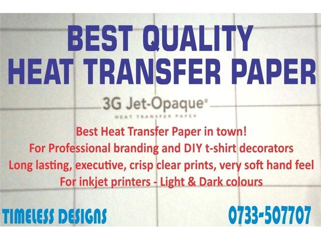 Topcut - SELF-WEEDING transfer paper for light fabrics - 50 Sheets